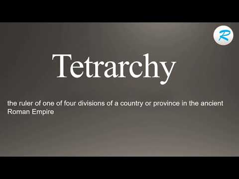How to pronounce Tetrarchy  | Tetrarchy  Pronunciation | Pronunciation of Tetrarchy