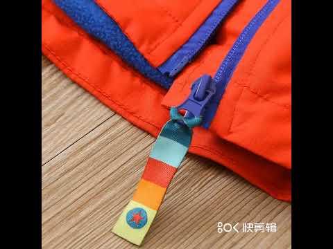 Водонепроницаемое модное хлопковое детское пальто с капюшоном куртки для мале… видео