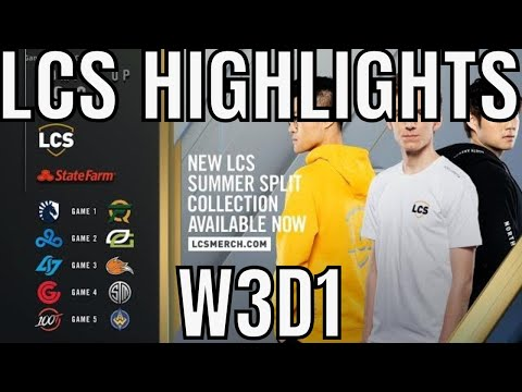 LCS Highlights ALL GAMES Week 3 Day 1 Summer 2019 Leaguee Of Legends NALCS
