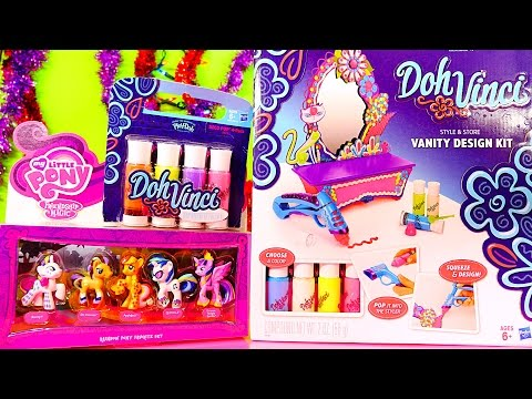 toys - Doh Vinci Style And Store Vanity Design Kit From Play-Doh Tutorial How To Decorate + My Little Pony Toys From DCTC -- How To Design + Use The Doh Vinci Decor...