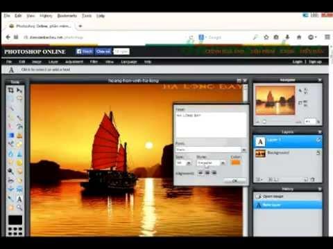 Chèn chữ vào hình ảnh đơn giản bằng Photoshop online - Thời lượng: 93 giây.