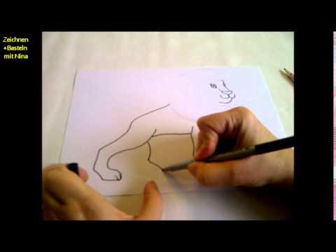 Zeichnen lernen für Anfänger. Einen Löwen zeichnen lernen