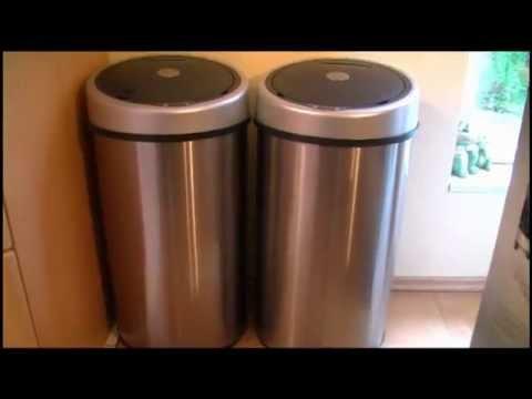 TecTake LUXUS Sensor Abfalleimer Mülleimer 50 Liter Volumen