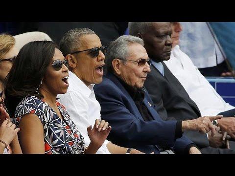 Αβάνα: Ομπάμα – Κάστρο τηρούν ενός λεπτού σιγή για τα θύματα των Βρυξελλών