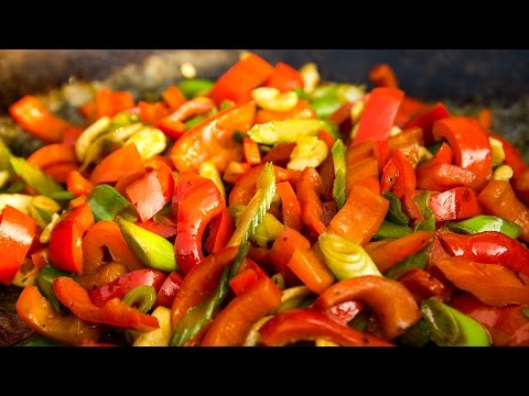 Paprika Gemüse chinesisch Rezept vegan   Der Bio Koch #676