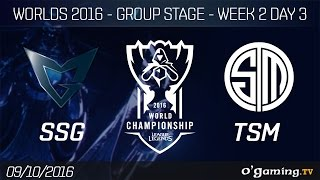 SSG vs TSM - World Championship 2016 - Group Stage Week 2 Day 3