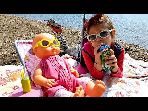 Кукла Беби Бон на море. Видео для детей видео