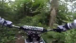 7. Electric dirt bike zero x in woods