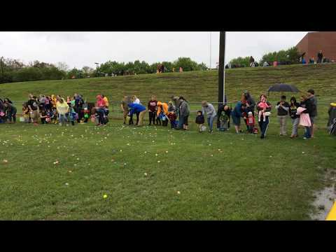 Video: Children collect eggs at the Bloomingdale Ruritan Easter egg hunt