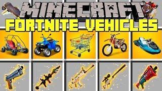 Minecraft FORTNITE VEHICLES MOD l SHOPPING CART, JETS, CARS, TRUCKS & MORE! l Modded Mini-Game