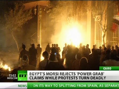 tahrir - Mass protests across Egypt against what's seen as a power grab by President Mohammad Morsi have now turned deadly. A teenager was killed on Sunday and dozens...
