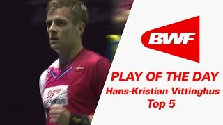 Video Hans-Kristian Vittinghus - Top 5 | Badminton | Play Of The Day MP3, 3GP, MP4, WEBM, AVI, FLV November 2018