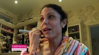 Bethenny's Makeup Tutorial Part 1: Sunscreen, Foundation, Concealer, And Brows