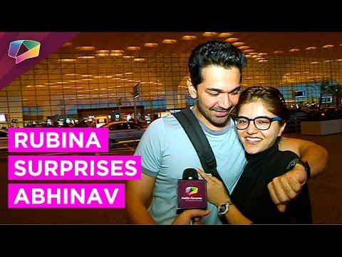 Rubina Dilaik Surprises Abhinav Shukla prior to hi