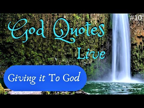 Thank you quotes - Giving it To God   God Quotes
