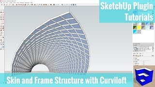 Video Creating a Frame and Skin Structure in SketchUp with Hidden Geometry and Curviloft MP3, 3GP, MP4, WEBM, AVI, FLV Desember 2017