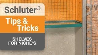 How to create a shelf in a niche