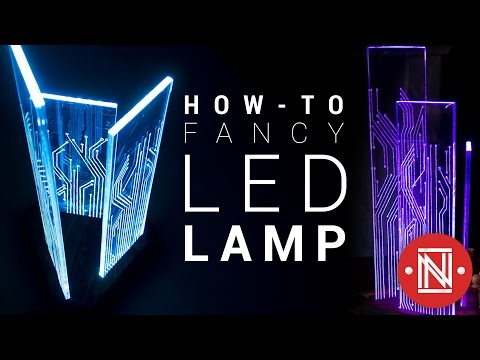 Amazing Color-Changing Acrylic LED Lamp!