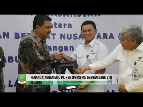 Penandatangan MoU PT KBN Persero dengan Bank BTN
