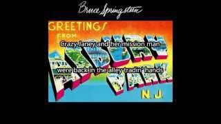 SPIRIT IN THE NIGHT - Bruce Springsteen (LYRICS ON SCREEN)