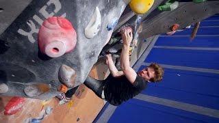 Nikken Is Battling a New V10 This Bouldering Session by Eric Karlsson Bouldering