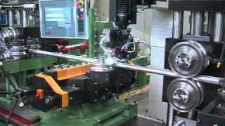 Profile welding of metal tube using laser