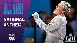 Download Youtube: P!nk Belts Out the National Anthem! | Super Bowl LII NFL Pregame
