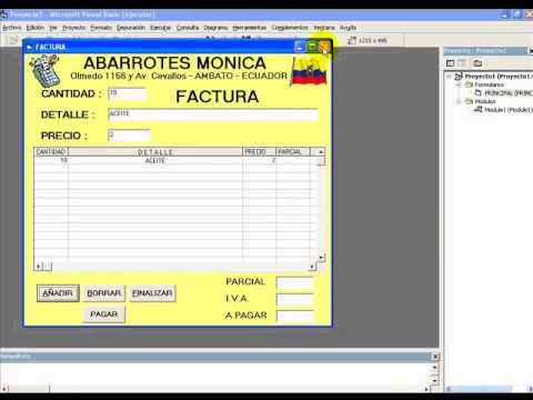 FACTURA SIMPLE EN VISUAL BASIC 6