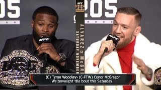 Video Conor McGregor vs Tyron Woodley TRASH TALK & BACKSTAGE MP3, 3GP, MP4, WEBM, AVI, FLV November 2018