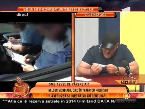 nelson - Nelson Mondialu a postat pe un site de socializare un filmuleţ în care doi poliţişti îi suspendă permisul de conducere., Un Show Pacatos, Antena 1, 24-06-2014.