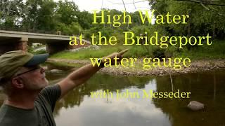 High water at the Bridgeport gauge
