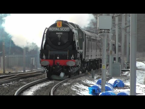 The Winter Cumbrian Mountain Express with 46233 Duchess o...