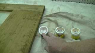 In this video i demonstrate how to select and blend wood putties to match your stain.