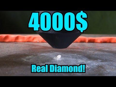 Esto pasa si aplastamos un diamante con una prensa hidráulica