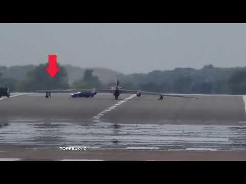 Посадка самолёта шпиона U-2