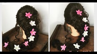 Pakistani Bridal Mehndi Hairstyle /Indian Bridal Hairstyle (No Background Music)