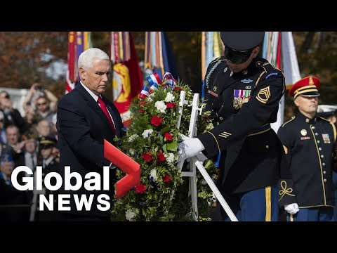 Mike Pence lays wreath in Arlington Cemetery to mark Veterans Day