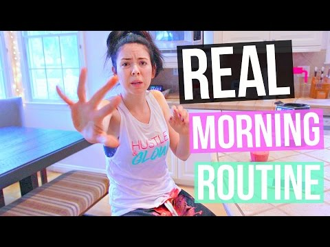 My 2017 REAL Winter Morning Routine | Nikkiphillippi