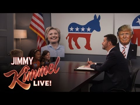 Jimmy Kimmel Talks to Kids About the Final Presidential