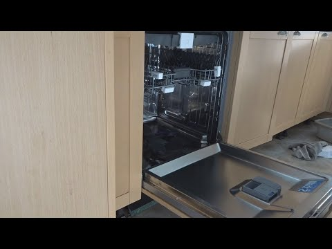 Beko dishwasher DIN28R22 - DIY install built-in integrated dishwasher