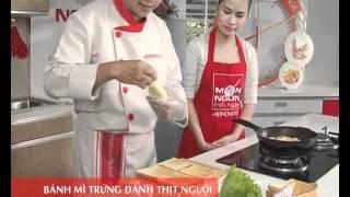 Món Ngon Mỗi Ngày - Bánh mì trứng đánh thịt nguội