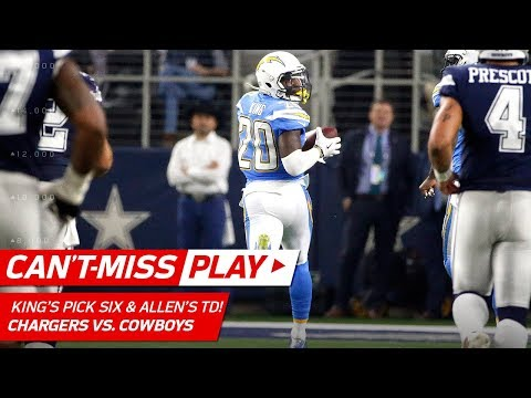 Video: Allen Carves Through the Defense for a TD & King's Leaping Pick 6! | Can't-Miss Play | NFL Wk 12