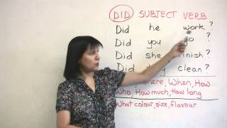 Past Tense Questions, Basic English Grammar -