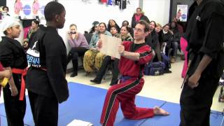 How to break a board with a reaction break at Brooklyn karate school