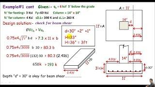 RCD:- Single column footing design