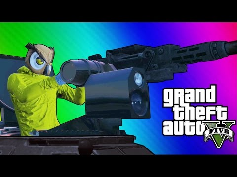 GTA 5 Online Funny Moments – Paper Bag Man, Valkyrie Chopper, Night Owl Cave! (GTA 5 Heists Update)