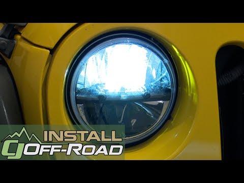 Jeep Wrangler JK Rigid Industries Headlight LED 7