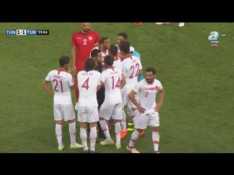 Cenk Tosun's (Turkey) Straight Red Card Against Tunisia
