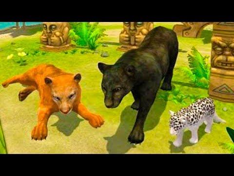 СИМУЛЯТОР ДИКОЙ КОШКИ #5 котята пантер виртуальный питомец развлекательное видео для детей #КИД