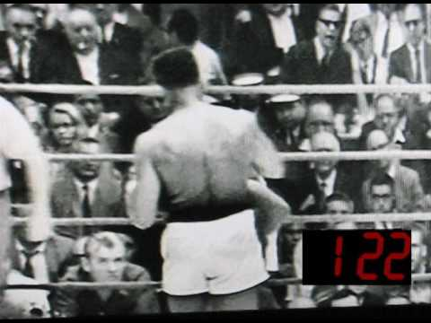 Clay Liston  Round 6 of 1st Clay (Ali) Liston fight with original radio broadcast.